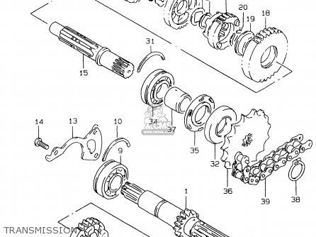 Suzuki Gs500e 1999 x e02 E04 E22 E24 E25 E34 E37 Transmission