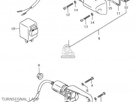 Suzuki Gs500e 1999 x e02 E04 E22 E24 E25 E34 E37 Turnsignal Lamp