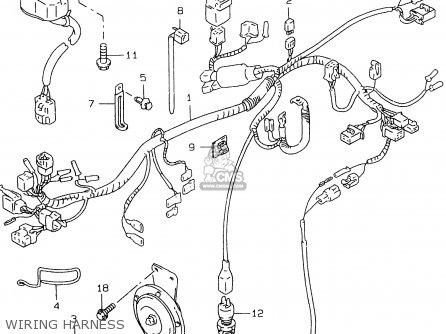 Suzuki Gs500e 1999 x e02 E04 E22 E24 E25 E34 E37 Wiring Harness
