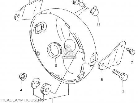 Suzuki Gs500e 1999 x Headlamp Housing