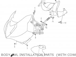 body cwl installation parts (with cowling)