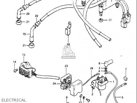 Suzuki Gs550 T 1981 Usa Parts Lists