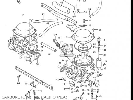 Suzuki Gs550 L 1985-1986 usa Carburetor for California