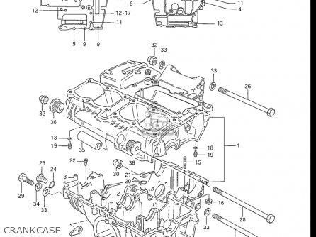 Suzuki Gs550 L 1985-1986 usa Crankcase