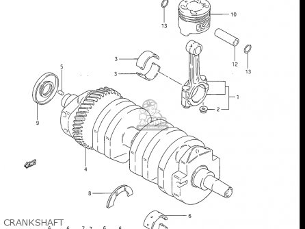 Suzuki Gs550 L 1985-1986 usa Crankshaft