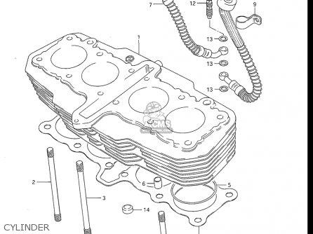 Suzuki Gs550 L 1985-1986 usa Cylinder