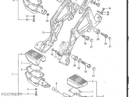 Suzuki Gs550 L 1985-1986 usa Footrest