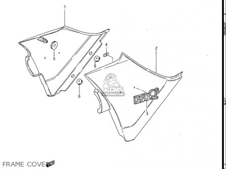 Suzuki Gs550 L 1985-1986 usa Frame Cover