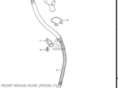 Suzuki Gs550 L 1985-1986 usa Front Brake Hose model F