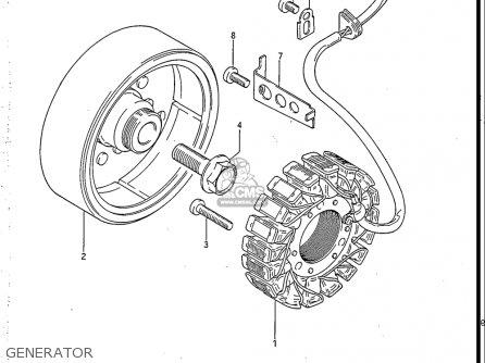 Suzuki Gs550 L 1985-1986 usa Generator