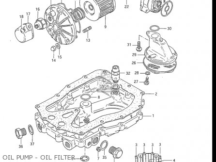 Suzuki Gs550 L 1985-1986 usa Oil Pump - Oil Filter