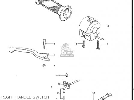 Suzuki Gs550 L 1985-1986 usa Right Handle Switch
