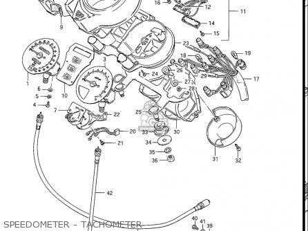 Suzuki Gs550 L 1985-1986 usa Speedometer - Tachometer