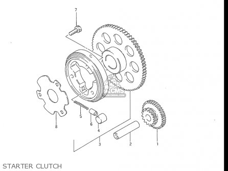 Suzuki Gs550 L 1985-1986 usa Starter Clutch