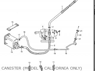 Suzuki Gs550l 1985 f Usa e03 Canister model G California Only