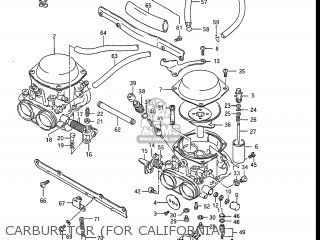 Suzuki Gs550l 1985 f Usa e03 Carburetor for California
