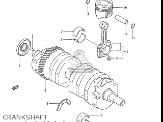 Suzuki Gs550l 1985 f Usa e03 Crankshaft