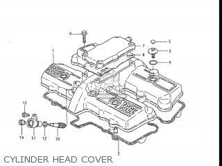 Suzuki Gs550l 1985 f Usa e03 Cylinder Head Cover