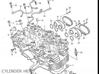 Suzuki Gs550l 1985 f Usa e03 Cylinder Head