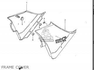 Suzuki Gs550l 1985 f Usa e03 Frame Cover