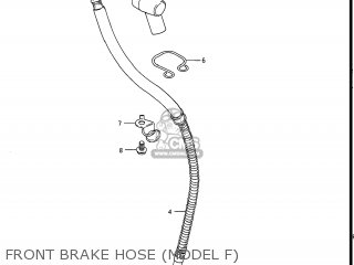 Suzuki Gs550l 1985 f Usa e03 Front Brake Hose model F