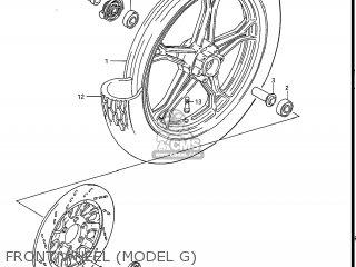 Suzuki Gs550l 1985 f Usa e03 Front Wheel model G