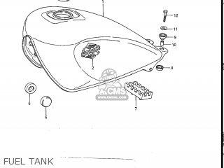 Suzuki Gs550l 1985 f Usa e03 Fuel Tank