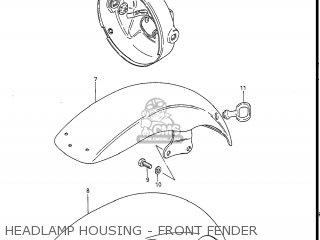 Suzuki Gs550l 1985 f Usa e03 Headlamp Housing - Front Fender