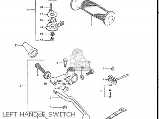 Suzuki Gs550l 1985 f Usa e03 Left Handle Switch