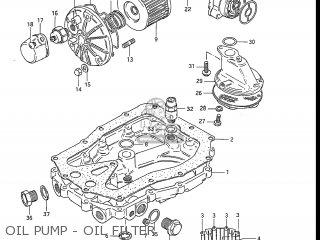 Suzuki Gs550l 1985 f Usa e03 Oil Pump - Oil Filter
