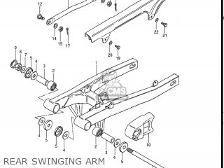 Suzuki Gs550l 1985 f Usa e03 Rear Swinging Arm