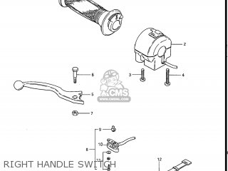 Suzuki Gs550l 1985 f Usa e03 Right Handle Switch