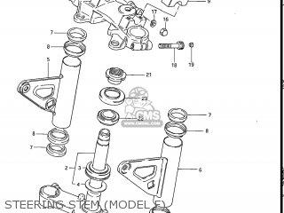 Suzuki Gs550l 1985 f Usa e03 Steering Stem model F