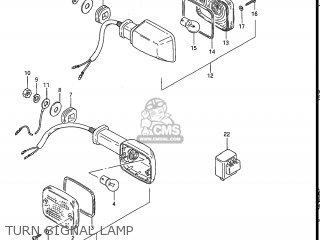 Suzuki Gs550l 1985 f Usa e03 Turn Signal Lamp