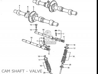 Suzuki Gs700e 1985 f Usa e03 Cam Shaft - Valve
