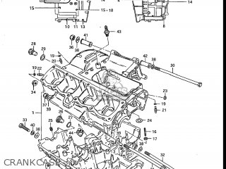 Suzuki Gs700e 1985 f Usa e03 Crankcase