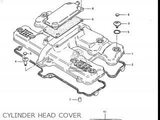 Suzuki Gs700e 1985 f Usa e03 Cylinder Head Cover