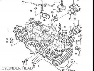 Suzuki Gs700e 1985 f Usa e03 Cylinder Head