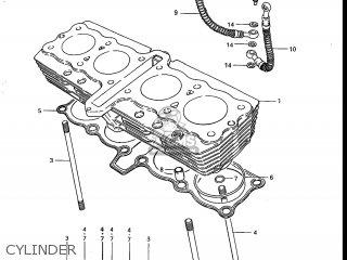 Suzuki Gs700e 1985 f Usa e03 Cylinder