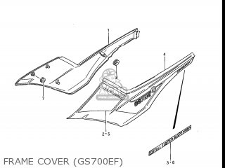 Suzuki Gs700e 1985 f Usa e03 Frame Cover gs700ef