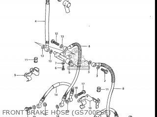 Suzuki Gs700e 1985 f Usa e03 Front Brake Hose gs700esf
