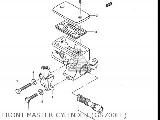 Suzuki Gs700e 1985 f Usa e03 Front Master Cylinder gs700ef