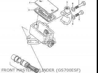 Suzuki Gs700e 1985 f Usa e03 Front Master Cylinder gs700esf