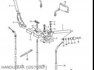Suzuki Gs700e 1985 f Usa e03 Handlebar gs700ef