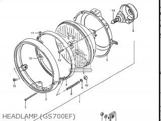 Suzuki Gs700e 1985 f Usa e03 Headlamp gs700ef