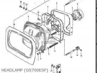 Suzuki Gs700e 1985 f Usa e03 Headlamp gs700esf