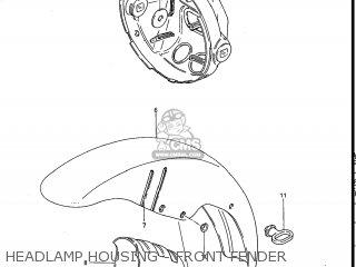 Suzuki Gs700e 1985 f Usa e03 Headlamp Housing - Front Fender