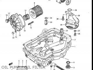 Suzuki Gs700e 1985 f Usa e03 Oil Pump - Oil Filter