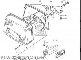 Suzuki Gs700e 1985 f Usa e03 Rear Combination Lamp