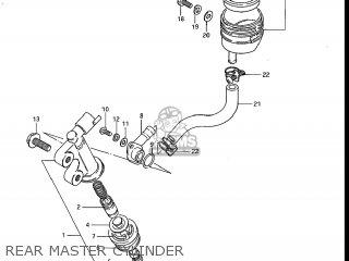 Suzuki Gs700e 1985 f Usa e03 Rear Master Cylinder